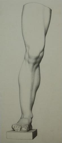 Bargue Leg Lithograph Copy, Charcoal, 2012