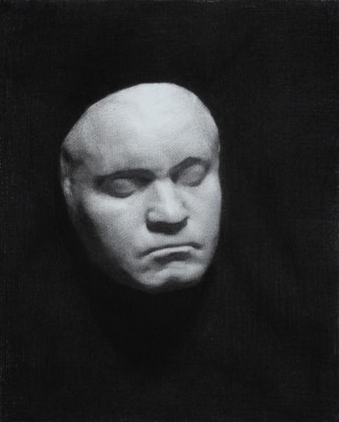 Beethoven Mask, Charcoal, 2012