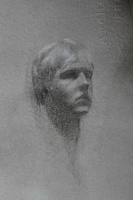 Frode, Charcoal & White Chalk, 2012