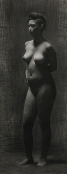 Valeria, Charcoal & White Chalk, 2012