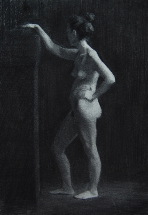 Claudia, Charcoal on Paper, 2012