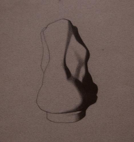 Bargue Ankle Lithograph Copy, Pencil on Paper, 2011.