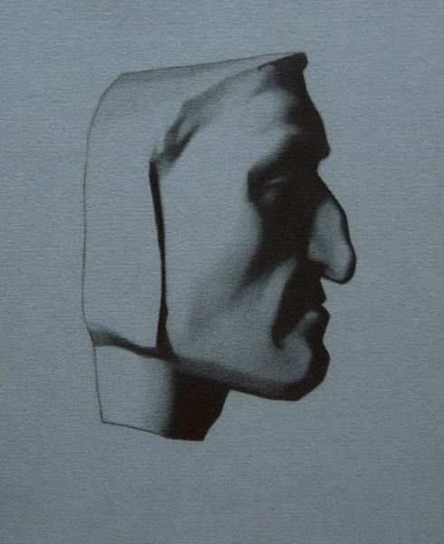 Dante Bargue Lithograph Copy, Pencil on Paper, 2011.