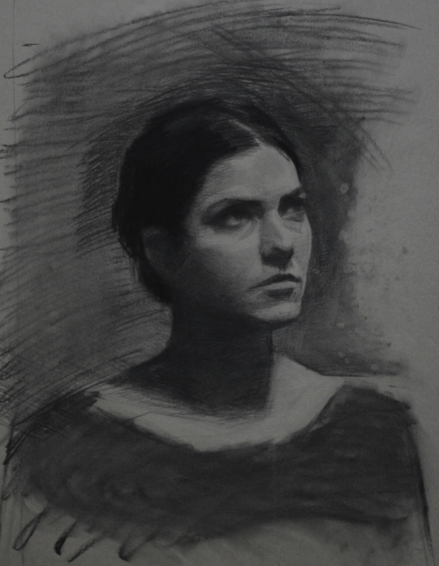 laura, charcoal on paper, 2013