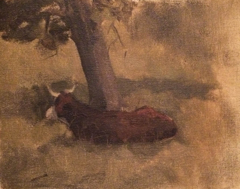 Cow Sketch. Oil on Canvas. 2013.