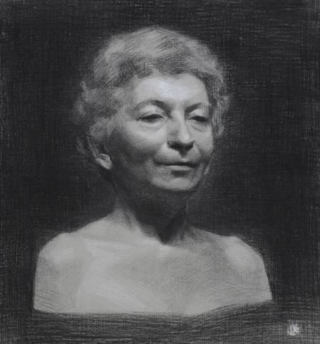 Maria Virginia, Charcoal & White Chalk, 2013
