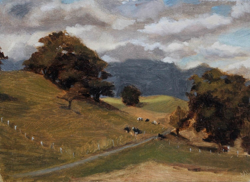 Lavey-Village, 22x16 cm, Oil on Canvas, 2013.