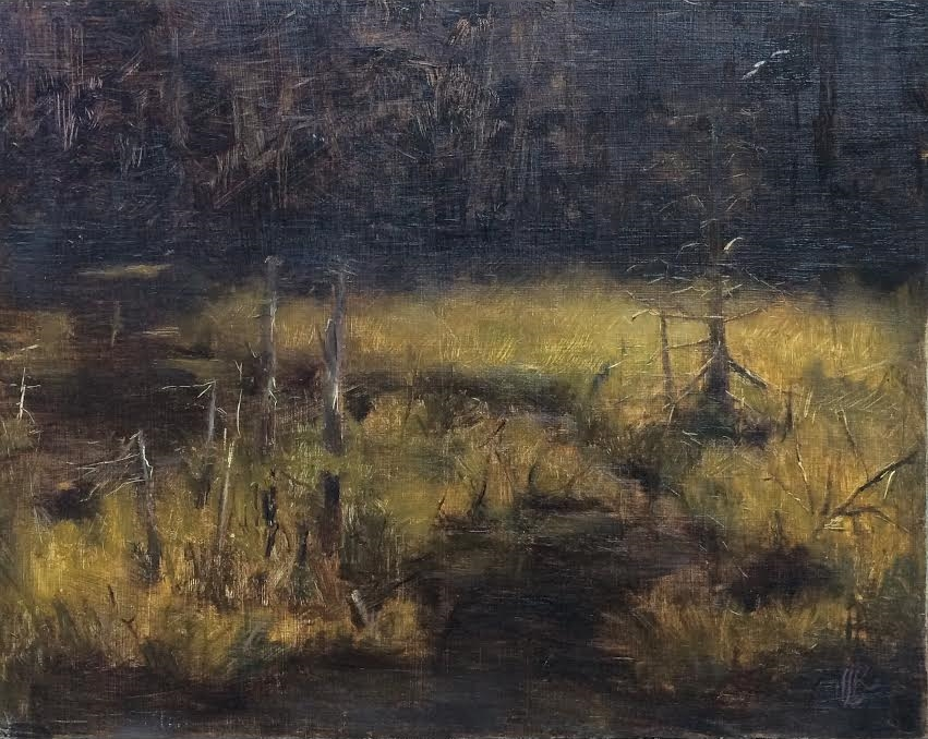 white mountain swamp, oil on panel, 2014