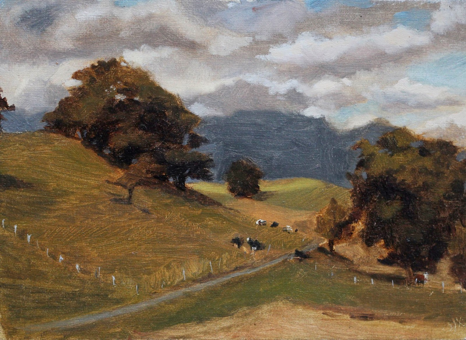lavey-village, oil on linen panel, 2013