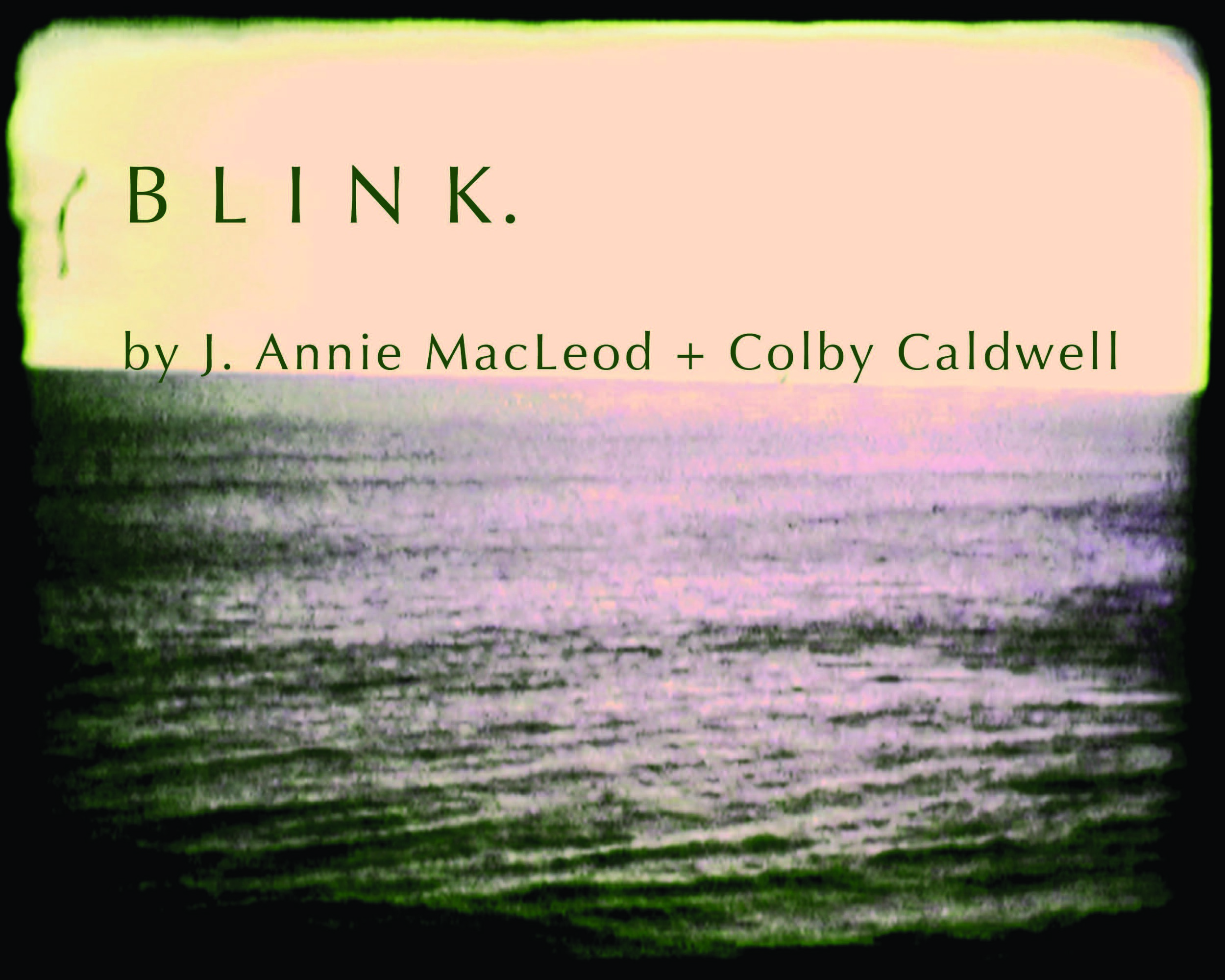 "Cover of ""Blink,"" a collaboration with the artist Colby Caldwell."