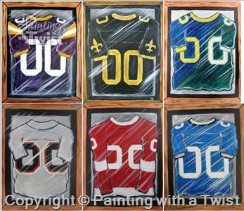 EXAMPLE OF JERSEYS WE WILL BE PAINTING