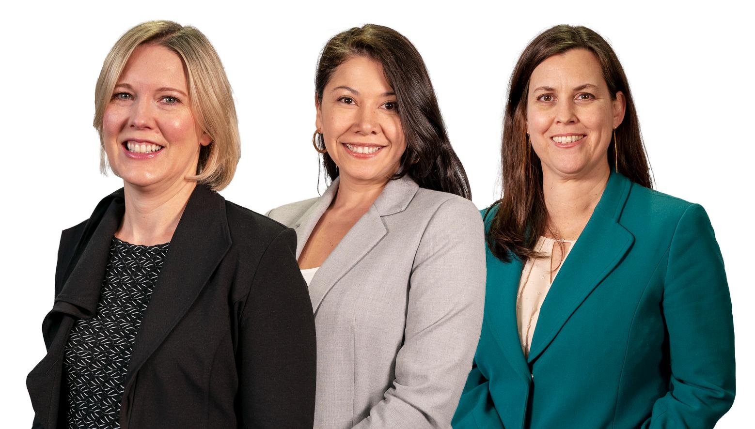 Faith Markham, Diana Bailey, and Laura Sigman