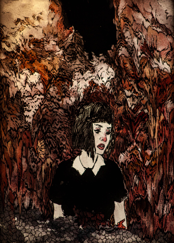 She Still Had A Secret, She Said.  2014. 9 x 12 inches. Watercolor on paper.