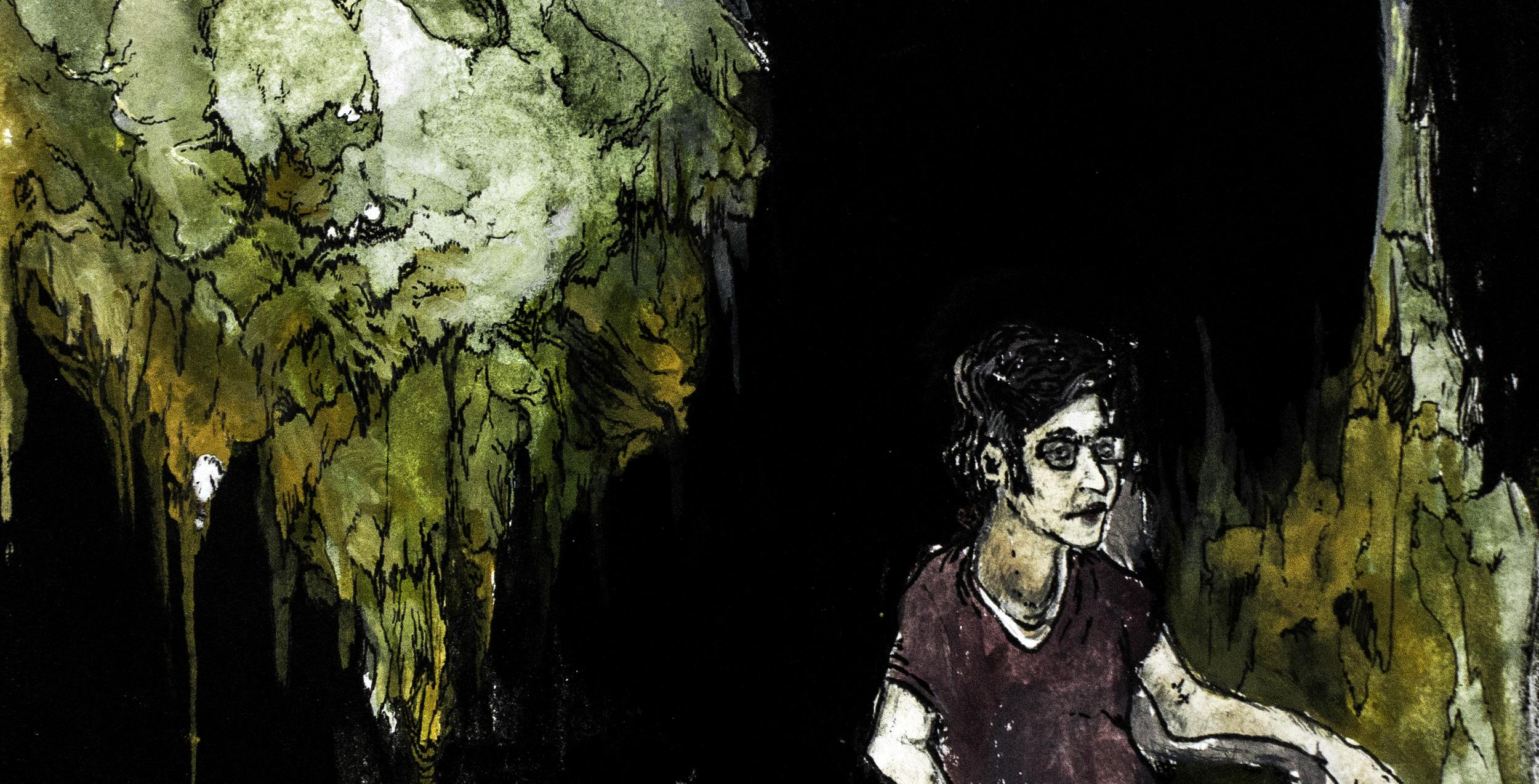 Alex.   Watercolor on paper.