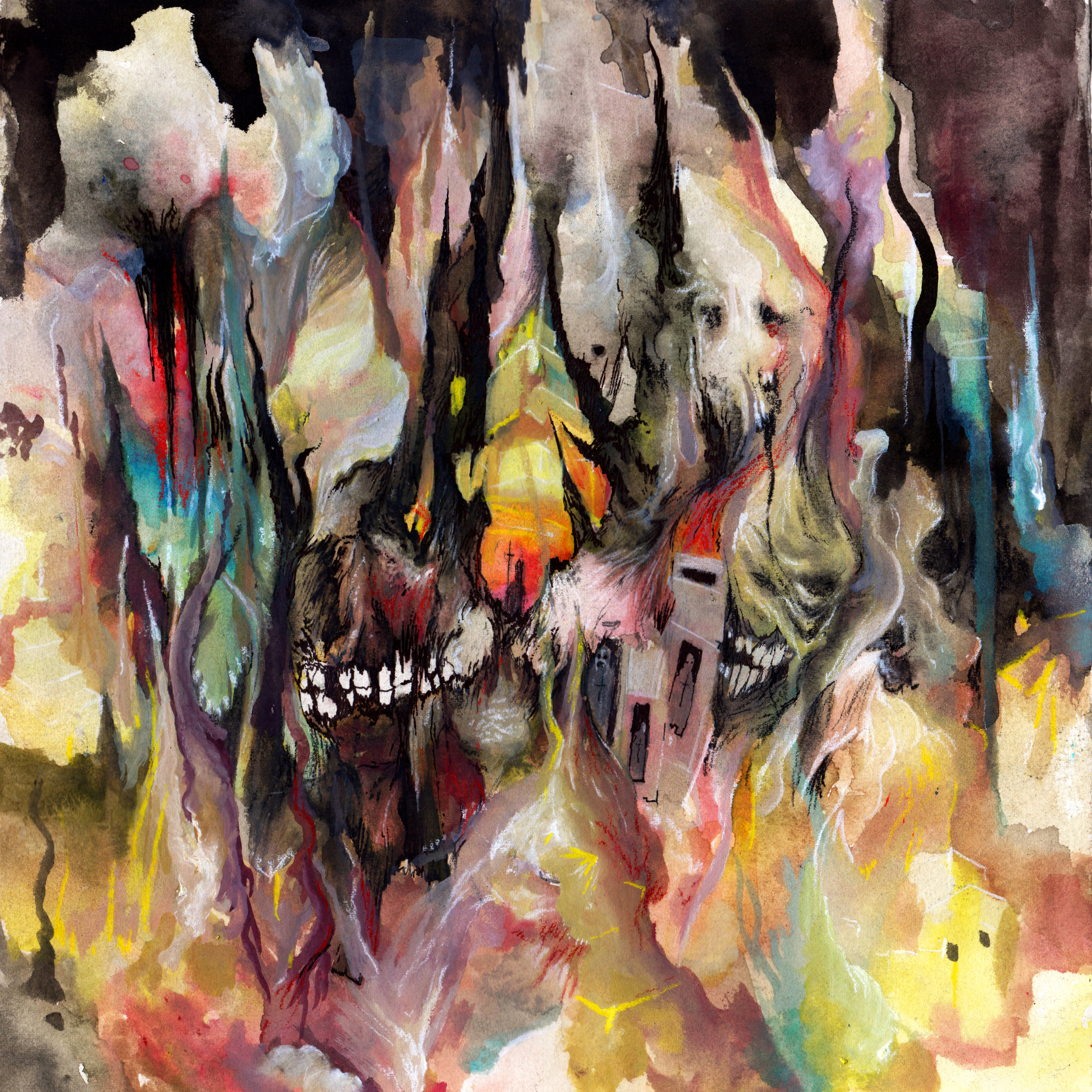 2015. Cover design for Yautja/Forn split. Released through Gilead Media.