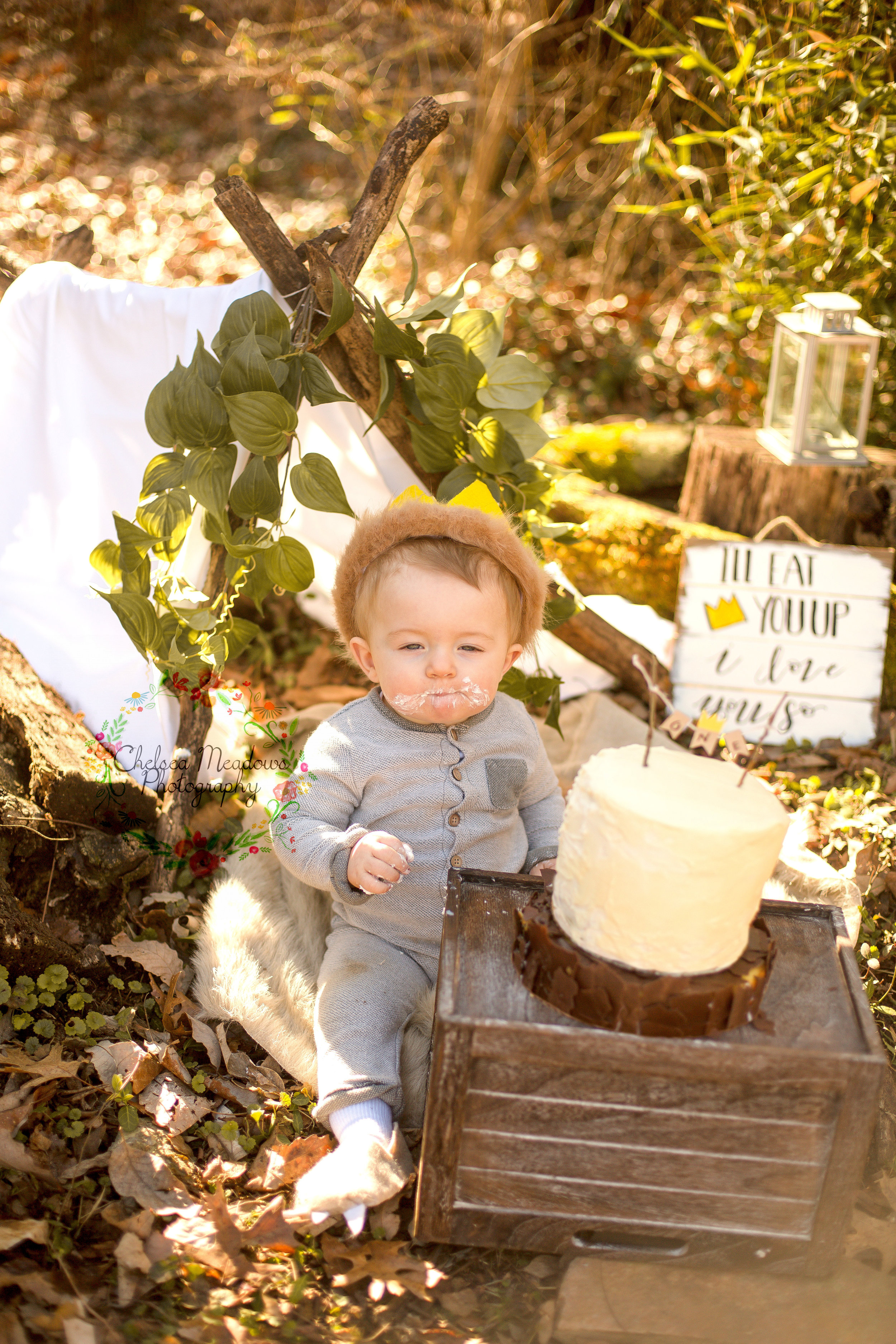 Matteo First Birthday Cake Smash - Nashville Family Photographer - Chelsea Meadows Photography (27).jpg