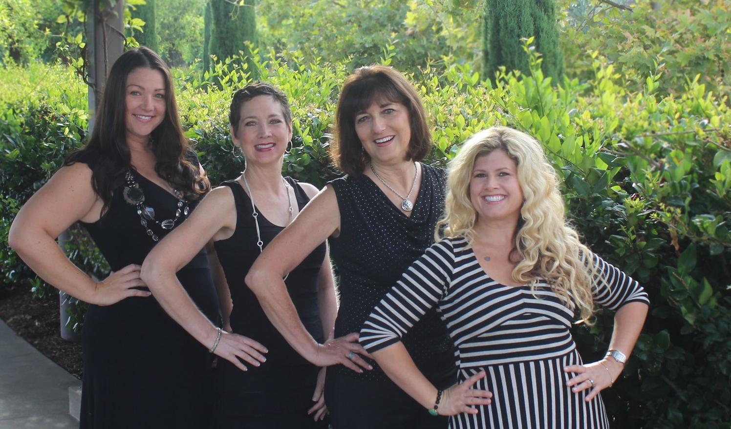 My amazing Designer Runway Team! (From Right to Left) Valerie: Team Captain, Cheryl, Jan, Sarah