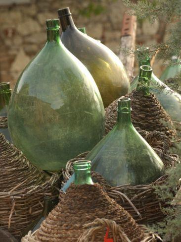 vintage wine jugs