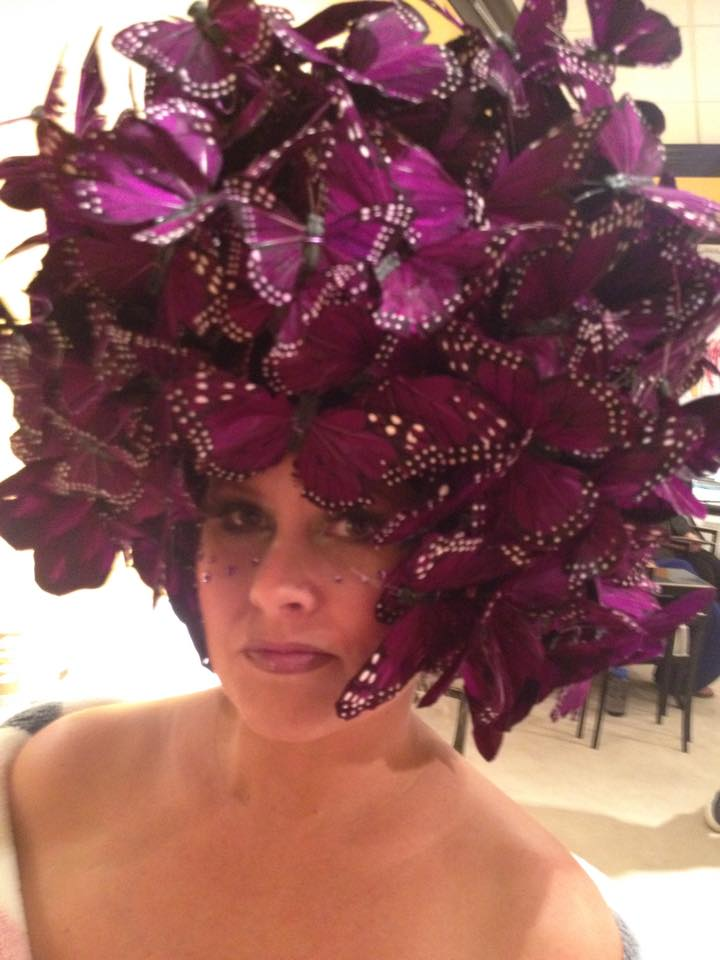 Our butterfly head piece. Sarah Strader is the mastermind behind this fabulousness!