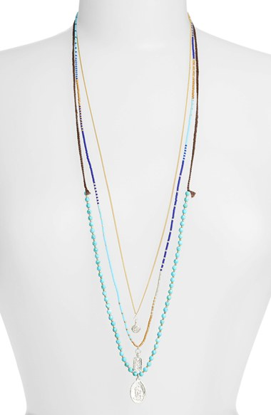 Chan Luu layering necklaces – This is a beautiful and   timeless line with a little edge .