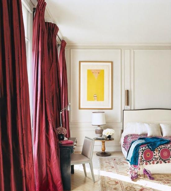 Marsala draperies and accents. image credit: Vogue via Pinterest