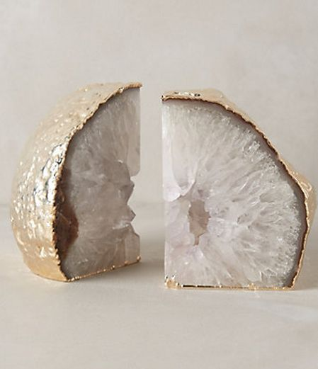 I love geodes. These come in 5 colors, 3. SO beautiful. Anthropologie.com