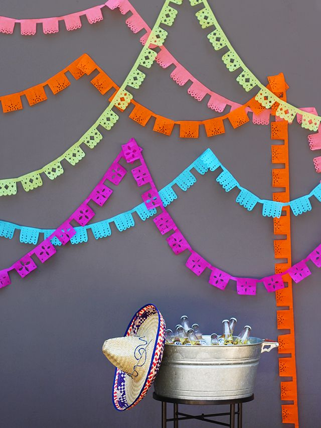 Find out how to make your very own colorfulpapel picado banner  here