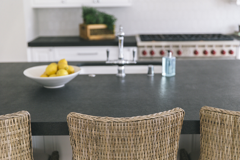 Black Absolute Honed Kitchen Island