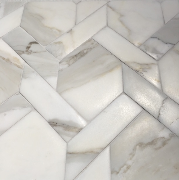 gorgeous calacatta borghini mosaic