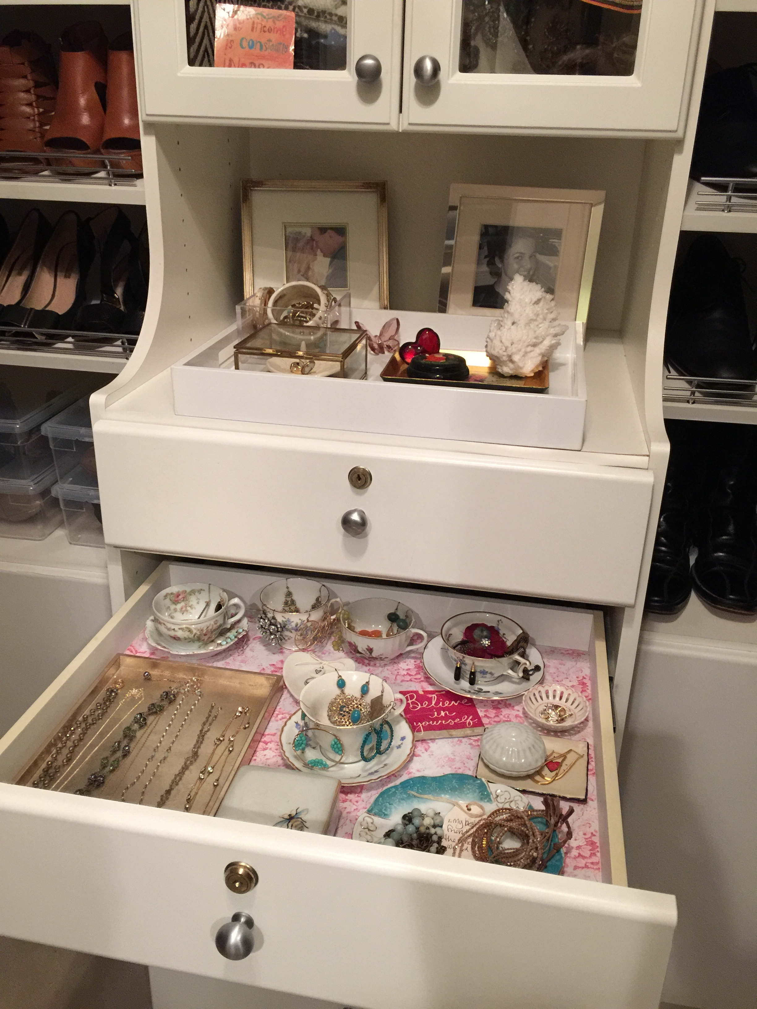 Jewelry drawer organized...check!