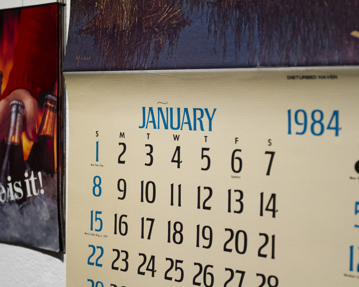 Untitled  (Calendars 1982-1986)  — [detail]