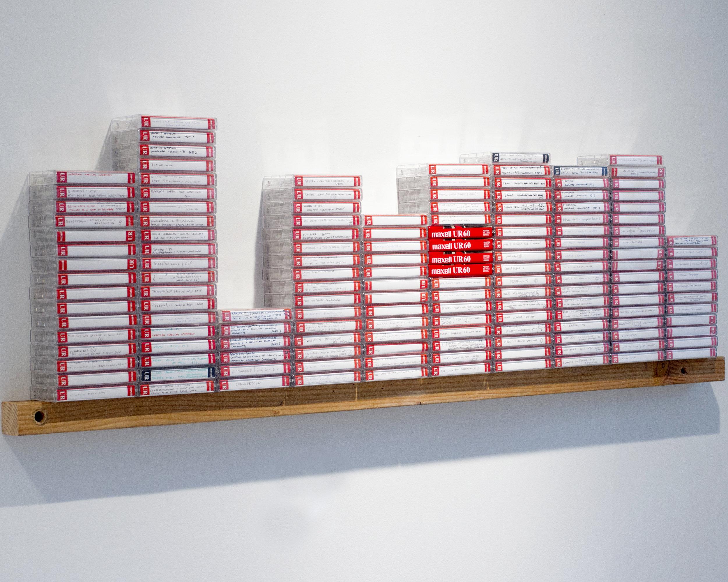 Lenguaje —   152 hours reading aloud recorded on cassette tape