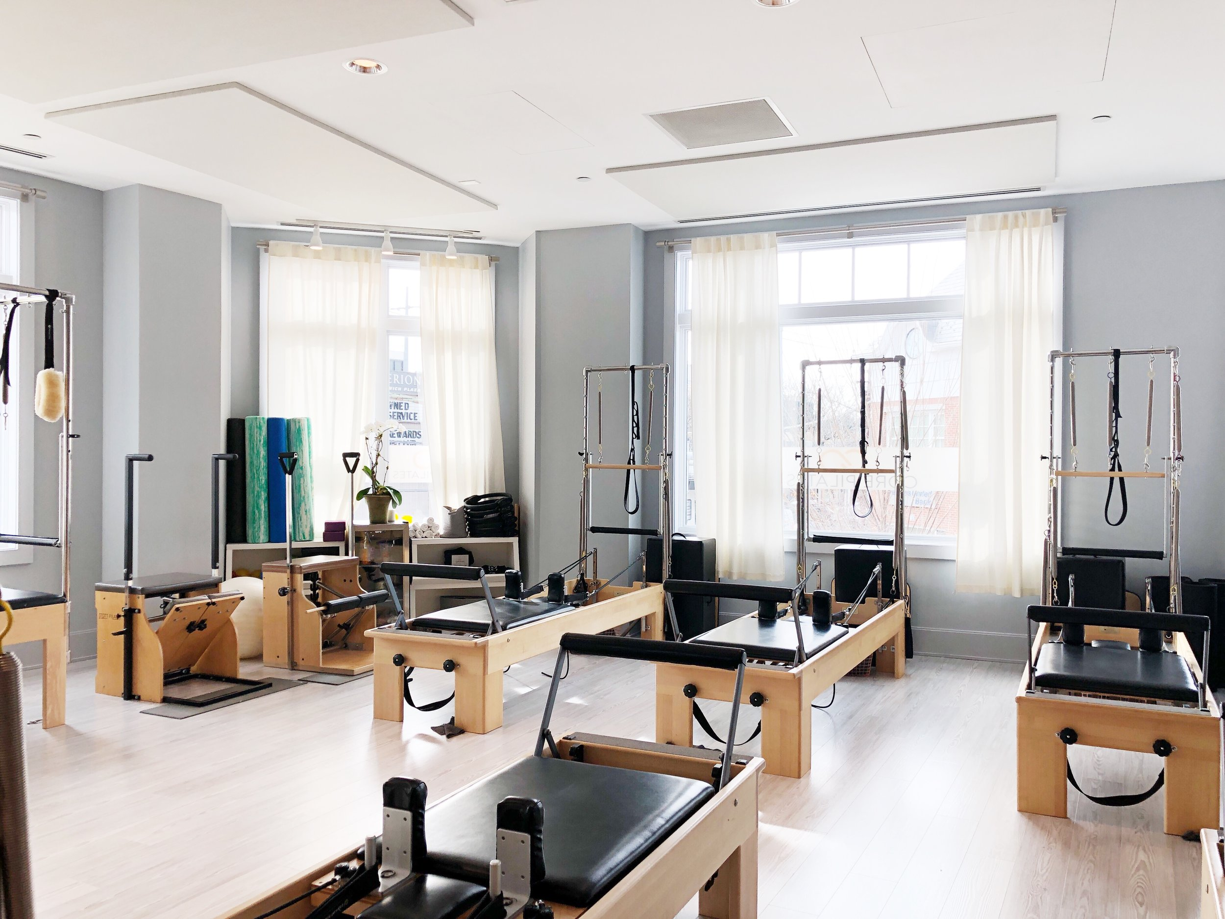 Inside Core Pilates Studio Greenwich.