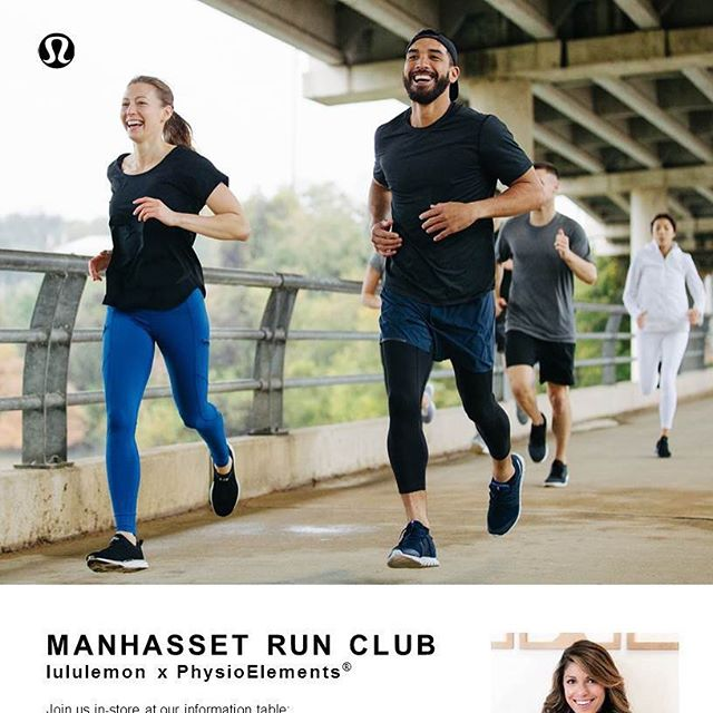 💫Every Run has a Reason -  Lululemon Manhasset x PhysioElements . We are kicking off the Run Club event, led by Dr. Sam this Sunday at 9am. No experience is necessary!!Come and hang out with us and find your reason to R U N!! . Sign up link on profile. Questions or comments 👇 or DM! . . . . . . . #runclub #running #reasontorun #runningclub #event #collaboration #lululemon #training #kickoffevent #runninggirl #runners #runnersbody #runnersofinstagram #momswhorun #dadswhorun #manhassetevent #manhasset #americanamall #americanamallmanhasset #longislandevent #runningmotivation #runningjourney #fitnessjourney #beginnerrunner #athletemotivation #physios #physicaltherapy #physiotherapist #wellness #fitnessmotivation
