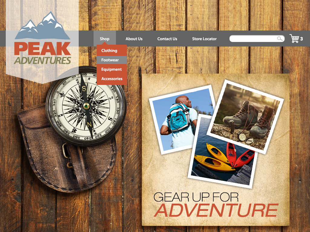 Outdoor Adventure Store | School Project