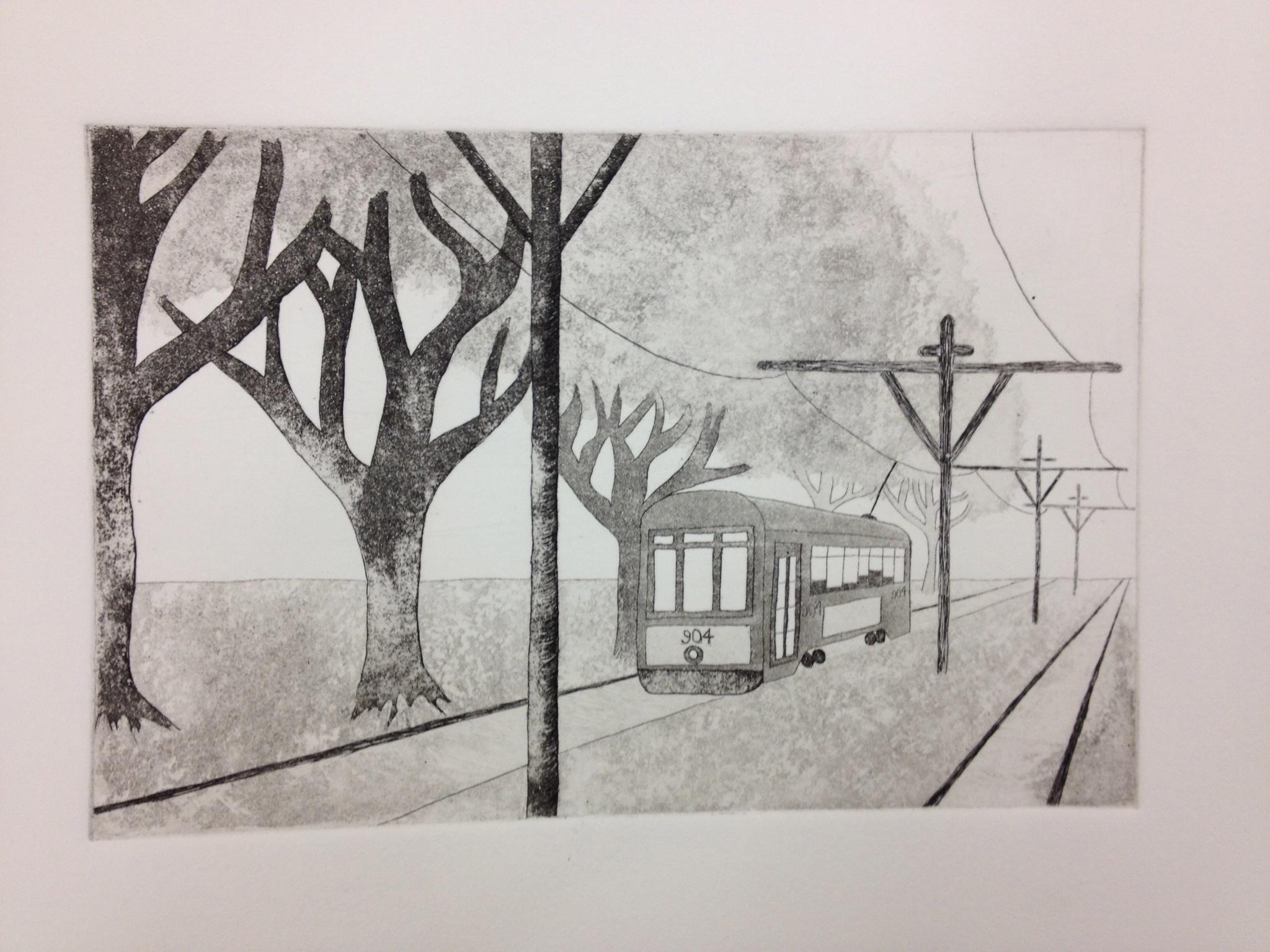 Streetcar   Intaglio Print
