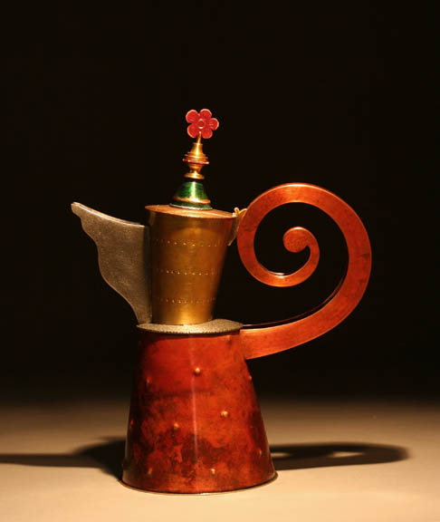 Copper Flower Teapot