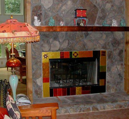 Hall, fireplace surround