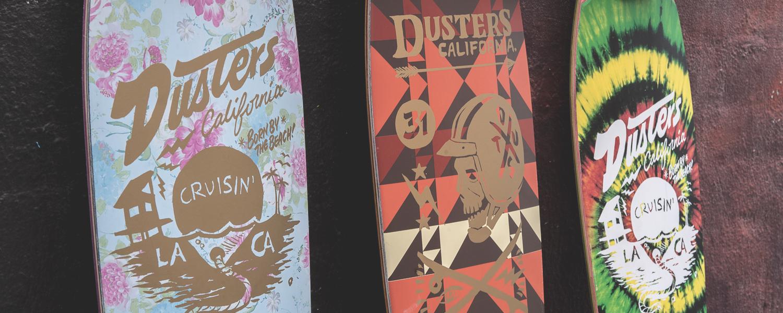 Dusters California moto longboard cruisin skateboard