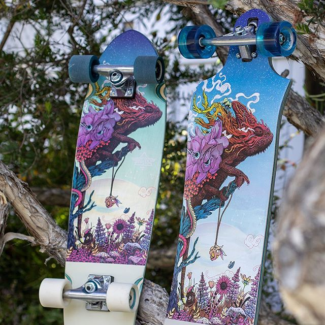 The Furcifer longboard and Cruiser are now available. Art by @matmillerillustration