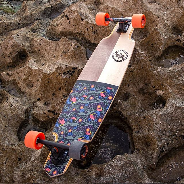 "The @super_brand longboard is now available in stores and online 👍 9.125""x38.5"""