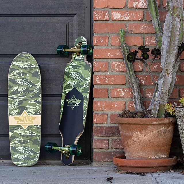 The #Cazhcruiser and #ChannelLongboard are sweet and simple with the classic camo graphic 👌