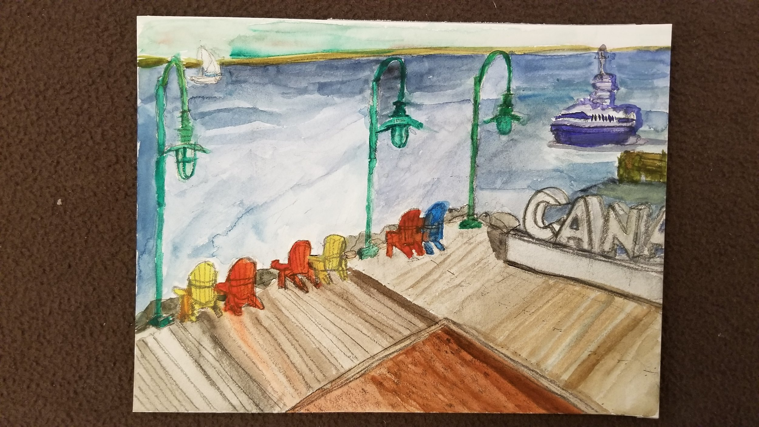 Halifax Harbour 2017  Watercolour on Paper