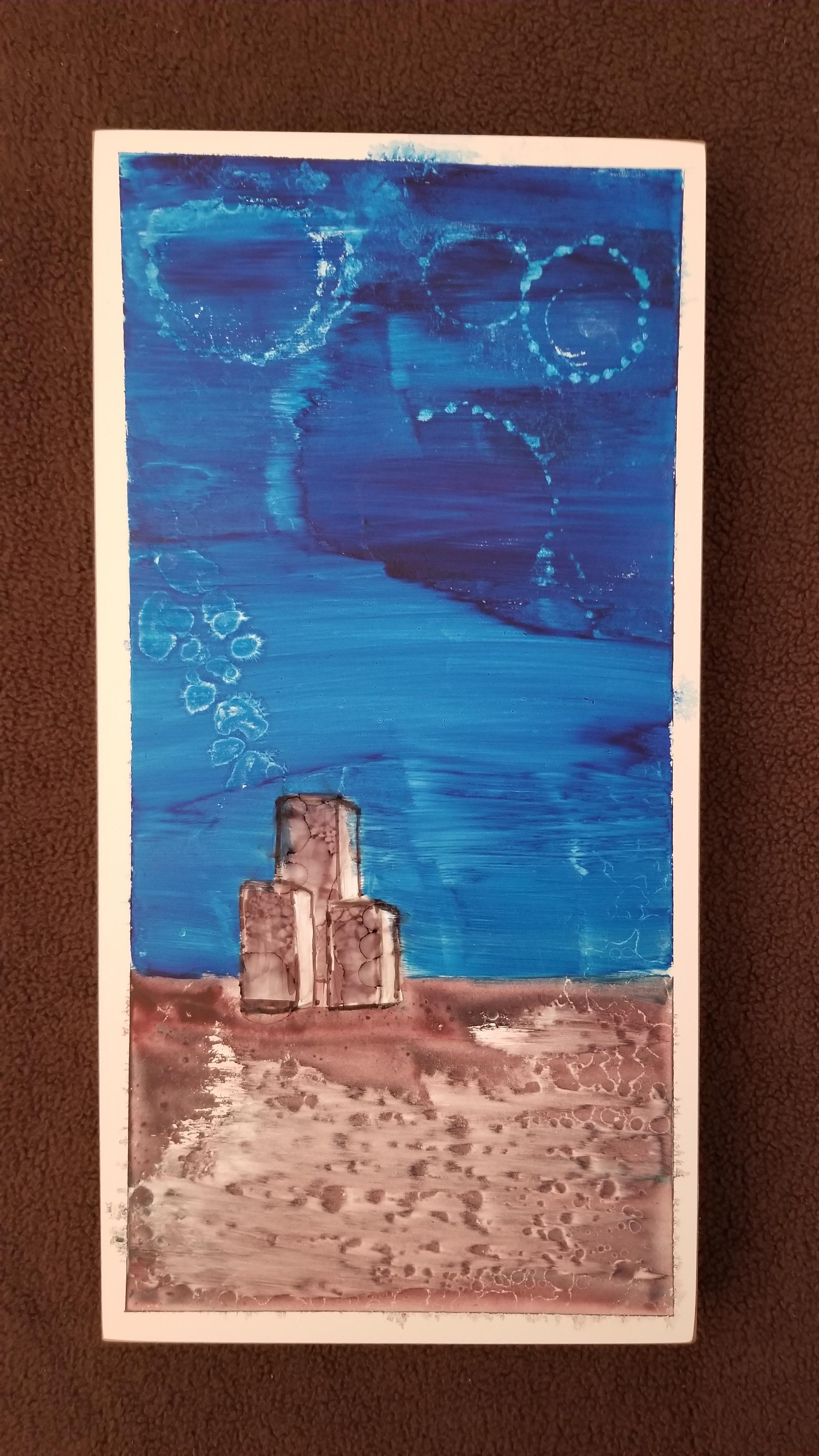 Jason 1  Watercolour on Wood Board 2017