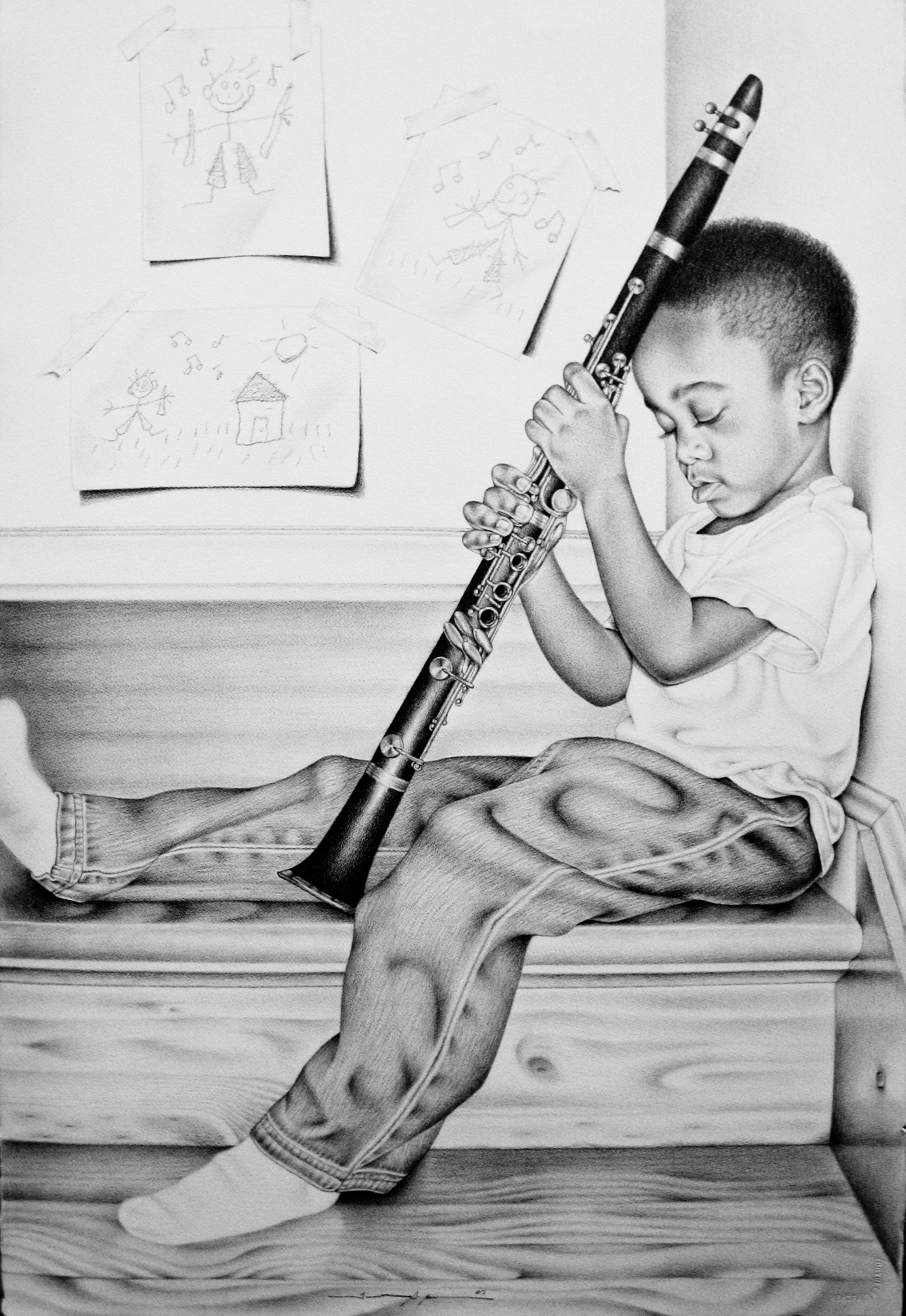 "Drawing titled ""Little Boy Blew"" by Tinnetta Bell"