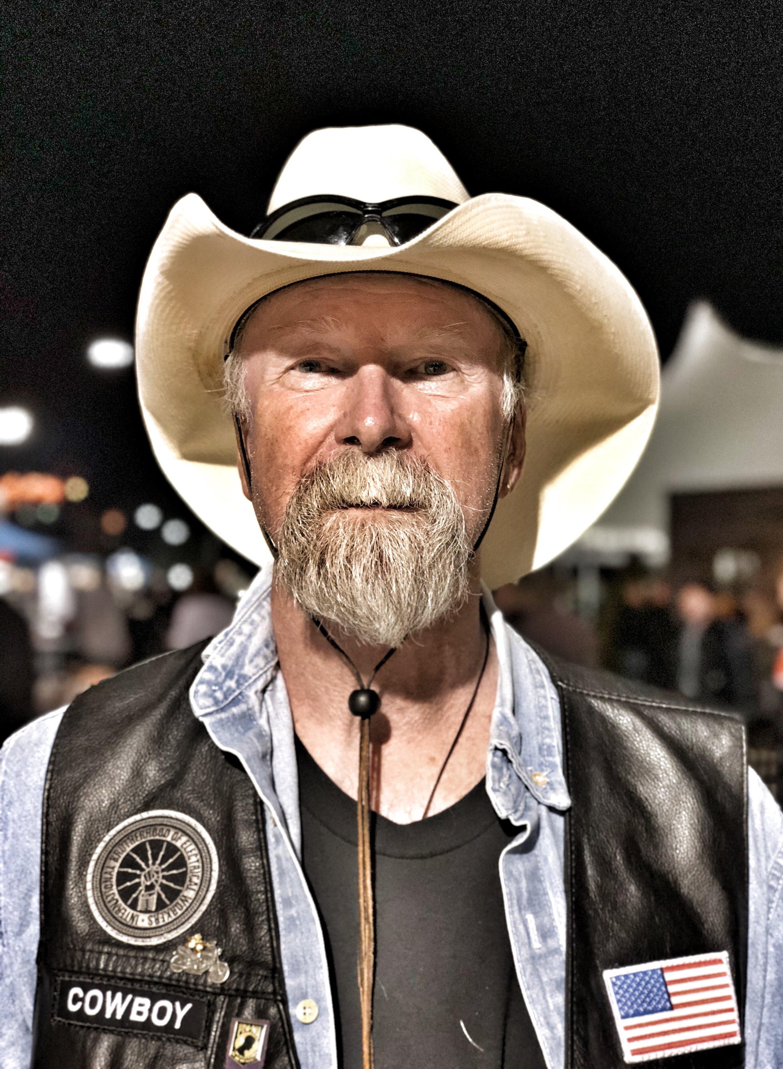 Kurt aka Cowboy: Rides a Harley Davidson