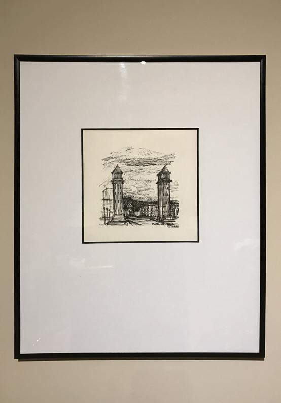 Jan. framed w/ 8x8 matte in 16x20 frame