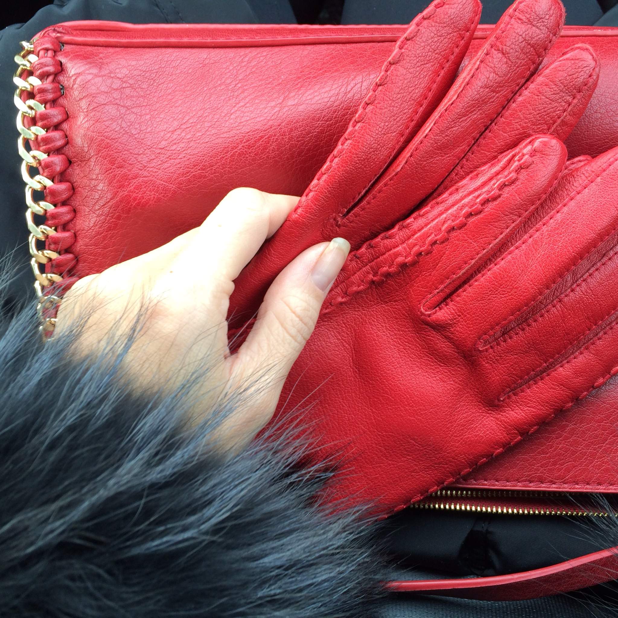 More color in my outfit of the day, redsymbolizing wealth and good fortune for the year ahead.