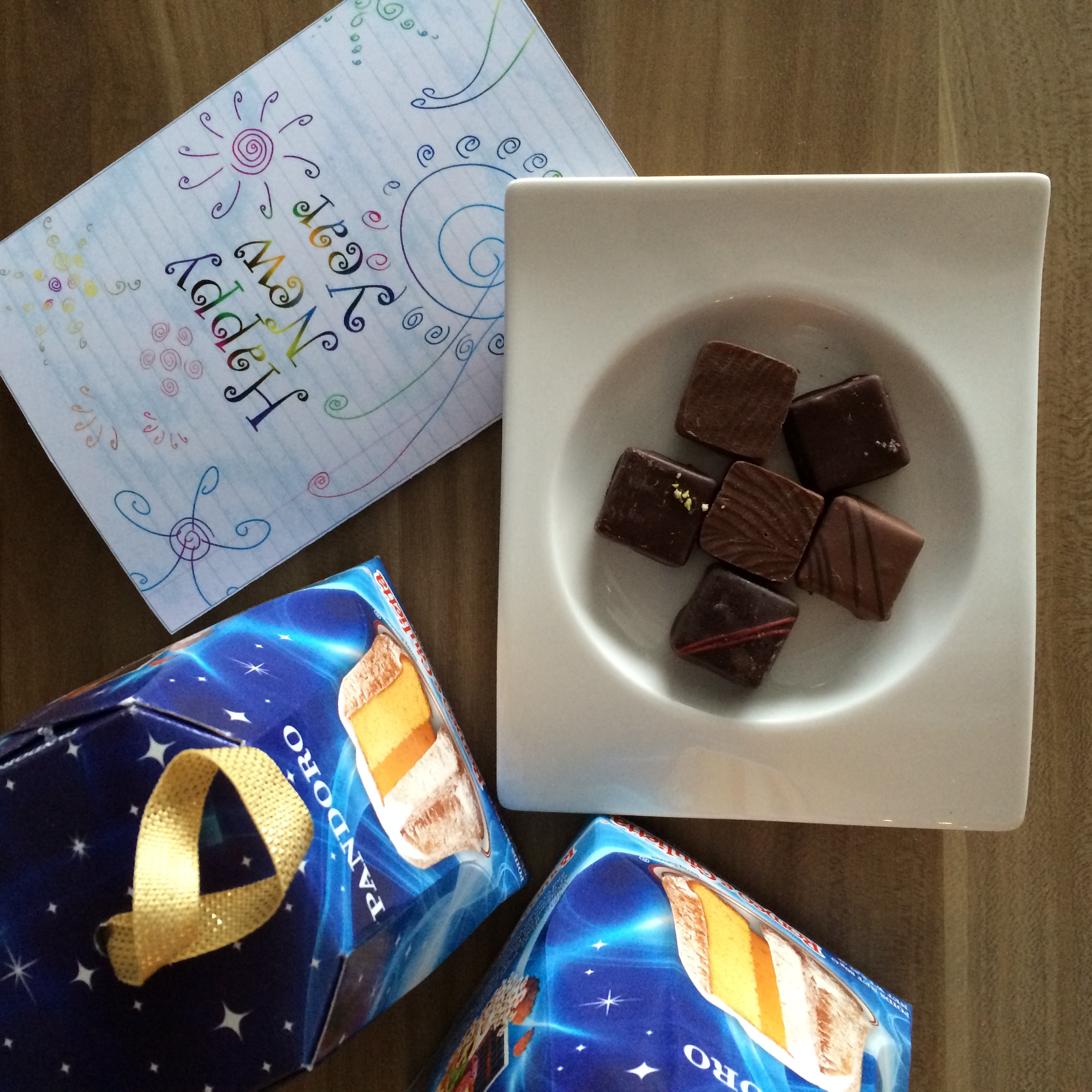 Traditional sweet treats and a sentimental card.