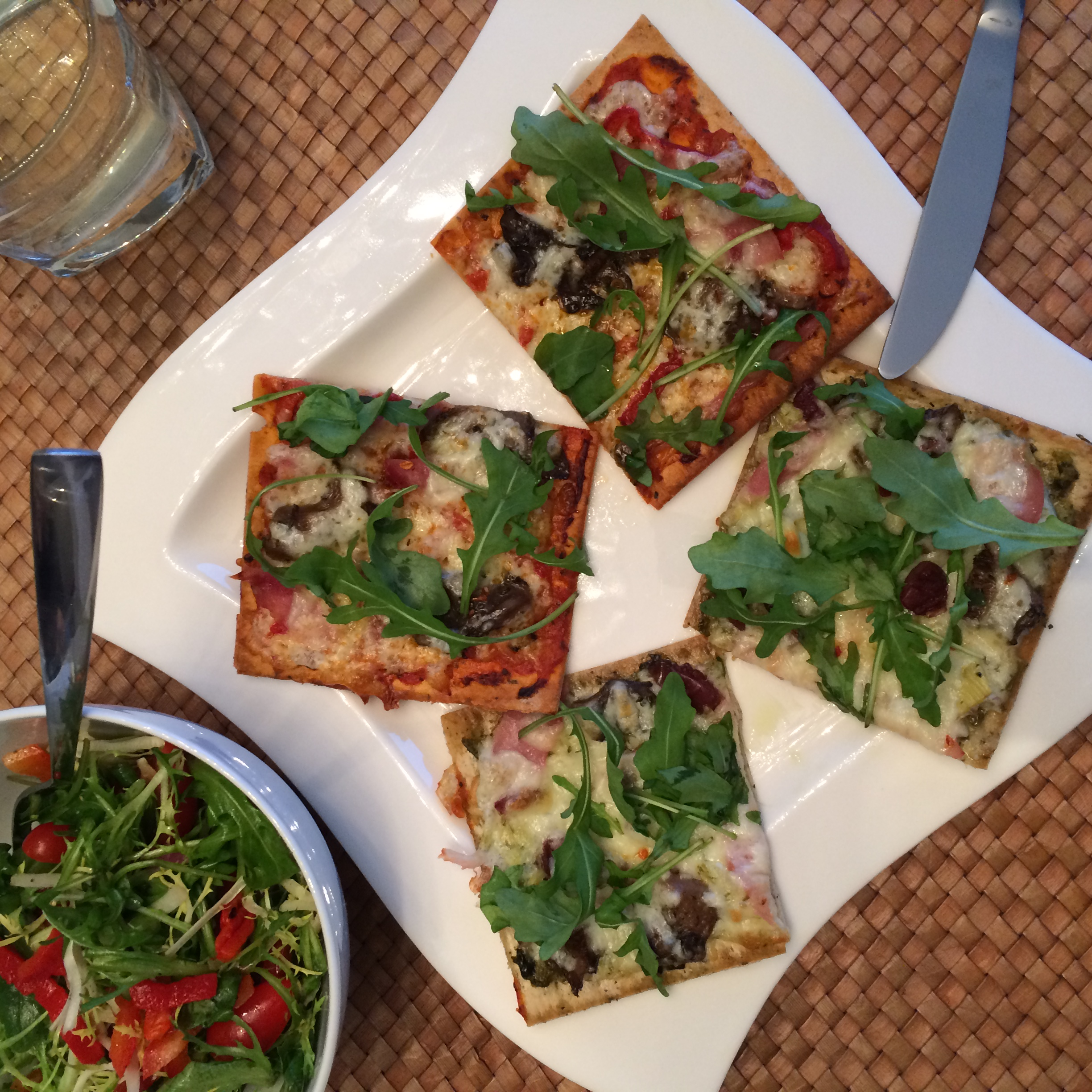 An easy and delicious home prepared dinner to share withfriends and family, now I'll always want a thin-crust pizza to start the year!